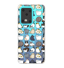 Lunso Softcase hoes - Samsung Galaxy S20 Ultra -  Katten