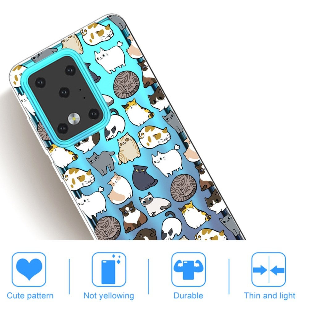 Lunso Softcase hoes Katten  voor de Samsung Galaxy S20 Ultra