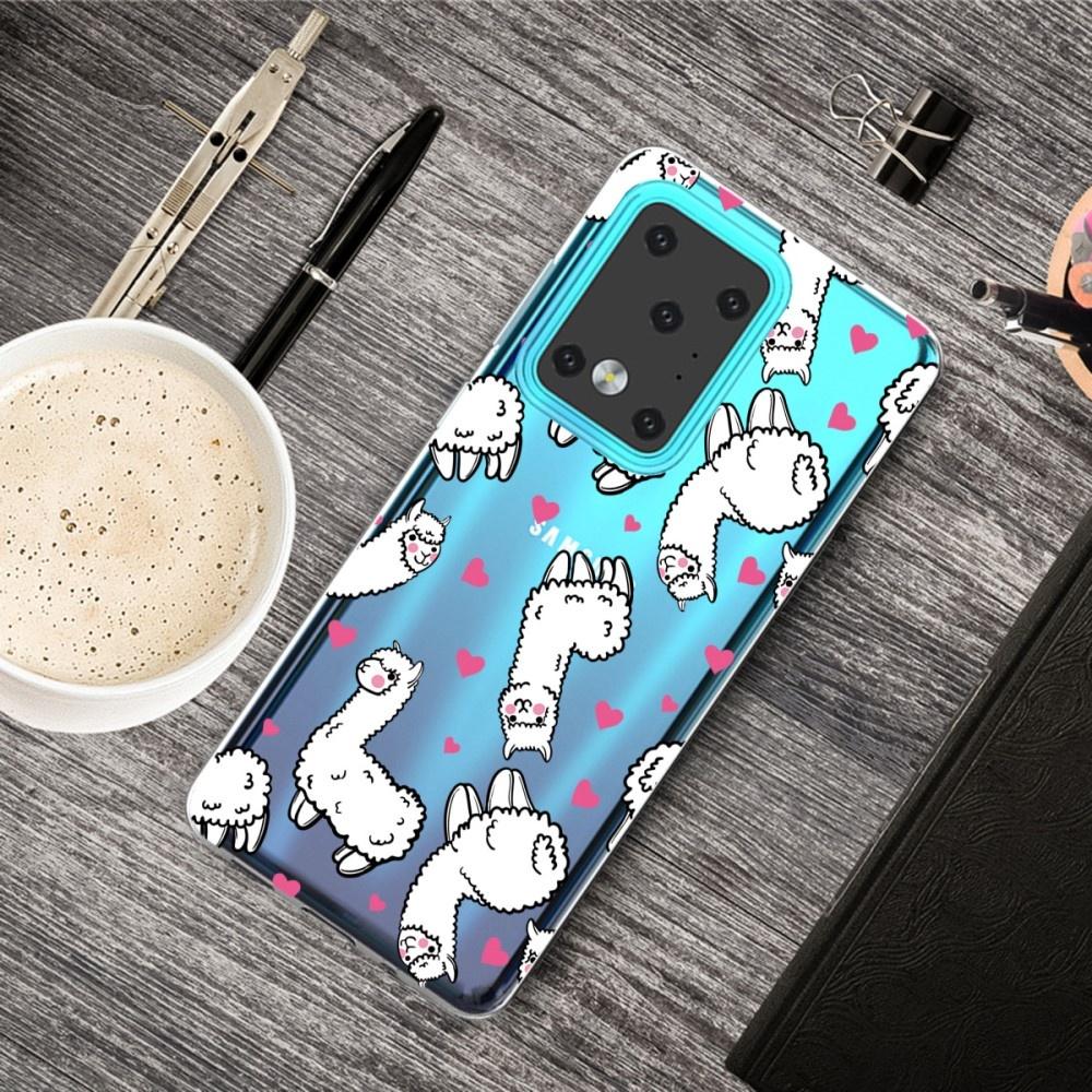 Lunso Softcase hoes Alpaca  voor de Samsung Galaxy S20 Ultra