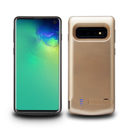 Lunso Lunso - Battery Power Case hoes - Samsung Galaxy S10 - 6000 mAh - Goud