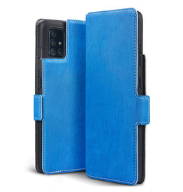 Qubits Qubits - slim wallet hoes - Samsung Galaxy A51 - Lichtblauw