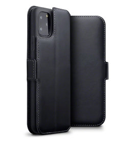 Qubits Qubits - lederen slim folio wallet hoes - iPhone 11 Pro Max - Zwart