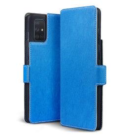 Qubits Qubits - slim wallet hoes - Samsung Galaxy A71 - Lichtblauw