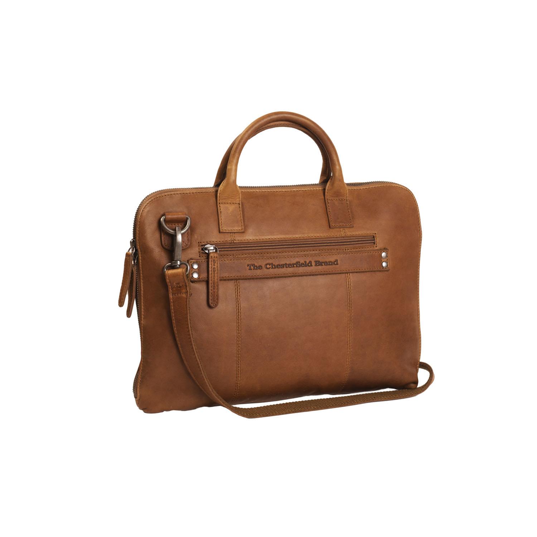 Chesterfield Harvey lederen tas Cognac voor 13 inch laptops