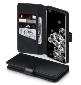 Qubits Qubits - luxe echt lederen wallet hoes - Samsung Galaxy S20 Ultra - Zwart