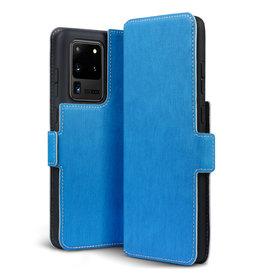 Qubits Qubits - slim wallet hoes - Samsung Galaxy S20 Ultra - Lichtblauw