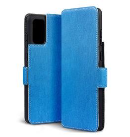Qubits Qubits - slim wallet hoes - Samsung Galaxy S20 Plus - Lichtblauw