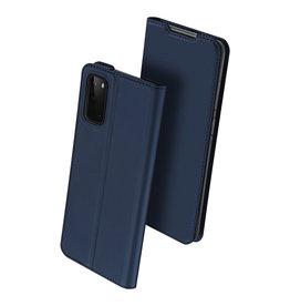 Dux Ducis Dux Ducis - pro serie slim wallet hoes - Samsung Galaxy S20 - Blauw