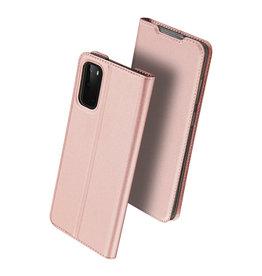Dux Ducis Dux Ducis - pro serie slim wallet hoes - Samsung Galaxy S20 - Rosé Goud