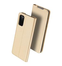 Dux Ducis Dux Ducis - pro serie slim wallet hoes - Samsung Galaxy S20 - Goud