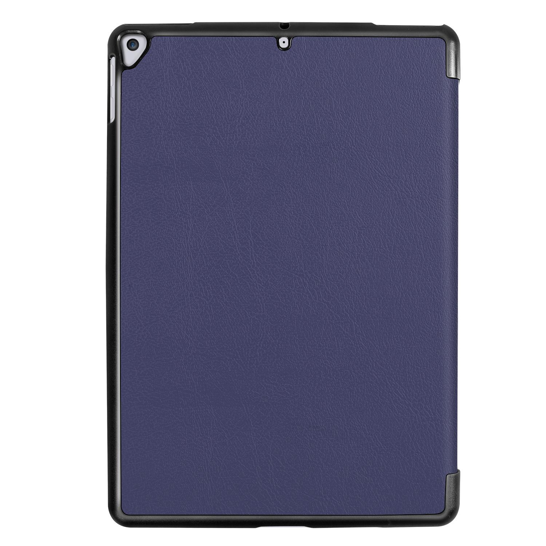 Lunso 3-Vouw sleepcover hoes Blauw voor de iPad 10.2 inch (2019)