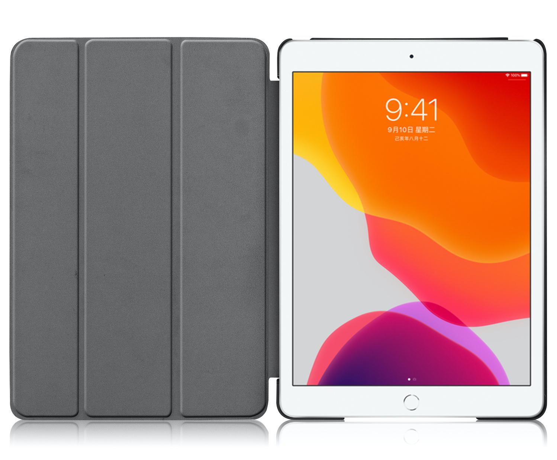 Lunso 3-Vouw sleepcover hoes Paars voor de iPad 10.2 inch (2019)