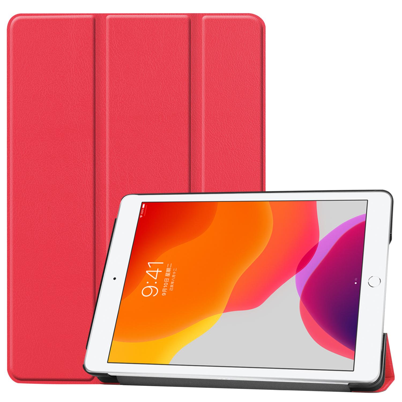Lunso 3-Vouw sleepcover hoes Rood voor de iPad 10.2 inch (2019)