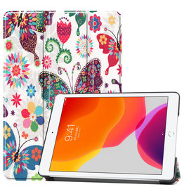 Lunso 3-Vouw sleepcover hoes - iPad 10.2 inch (2019) - Vlinders