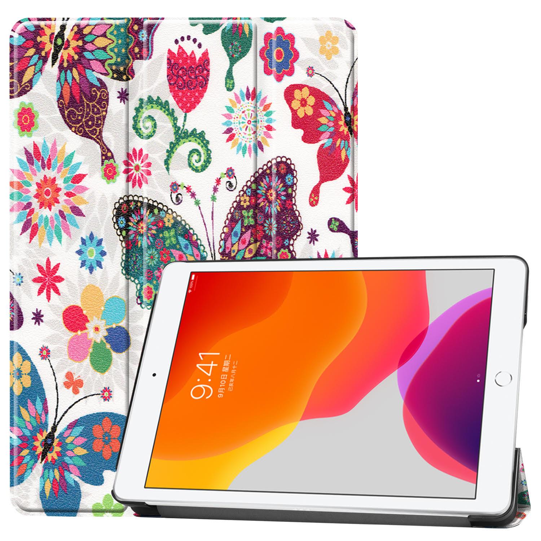 3-Vouw sleepcover hoes - iPad 10.2 inch 2019 / 2020 - Vlinders