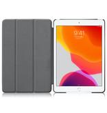Lunso 3-Vouw sleepcover hoes Vlinder voor de iPad 10.2 inch (2019)