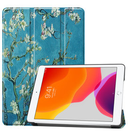 Lunso 3-Vouw sleepcover hoes - iPad 10.2 inch (2019) - Van Gogh Amandelboom