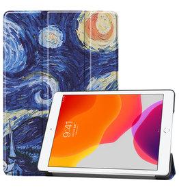 Lunso 3-Vouw sleepcover hoes - iPad 10.2 inch 2019 / 2020 - Van Gogh Schilderij