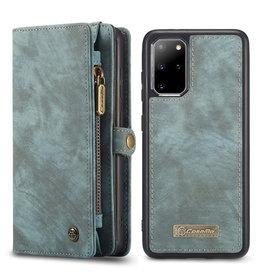 Caseme Caseme - vintage 2 in 1 portemonnee hoes - Samsung Galaxy S20 Plus - Blauw