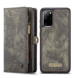 Caseme Caseme - vintage 2 in 1 portemonnee hoes - Samsung Galaxy S20 Plus - Grijs