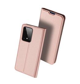 Dux Ducis Dux Ducis - pro serie slim wallet hoes - Samsung Galaxy S20 Ultra - Roze Goud