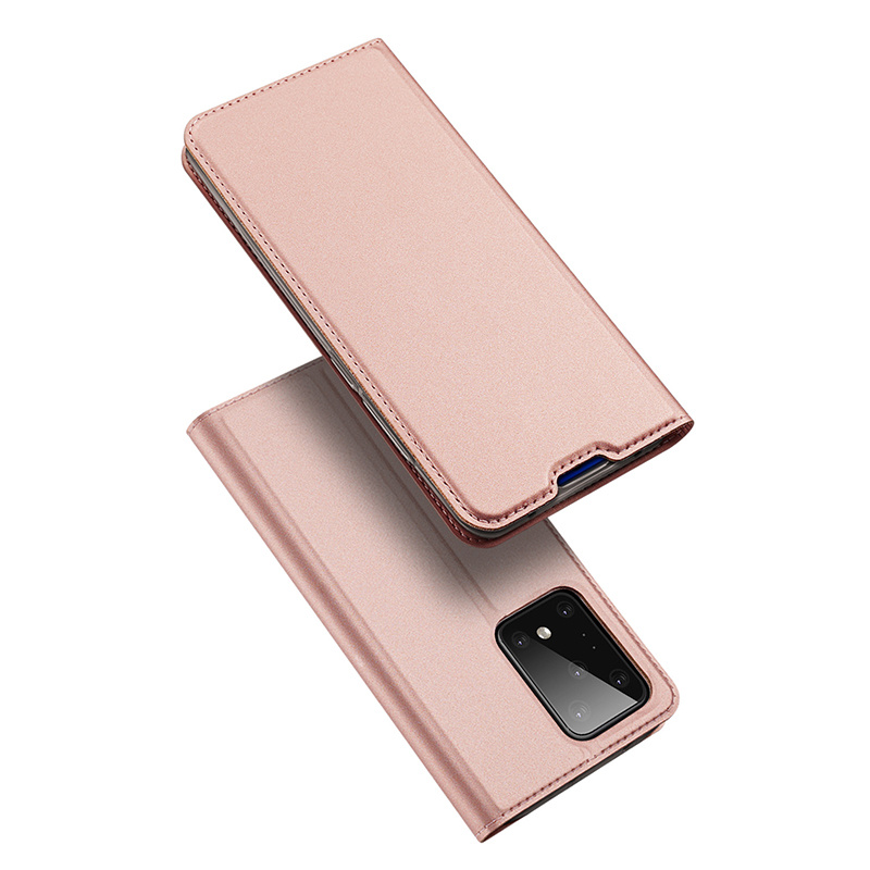 Dux Ducis Pro serie slim wallet Roze Goud hoes voor de Samsung Galaxy S20 Ultra