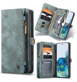 Caseme Caseme - vintage 2 in 1 portemonnee hoes - Samsung Galaxy S20 -  Blauw