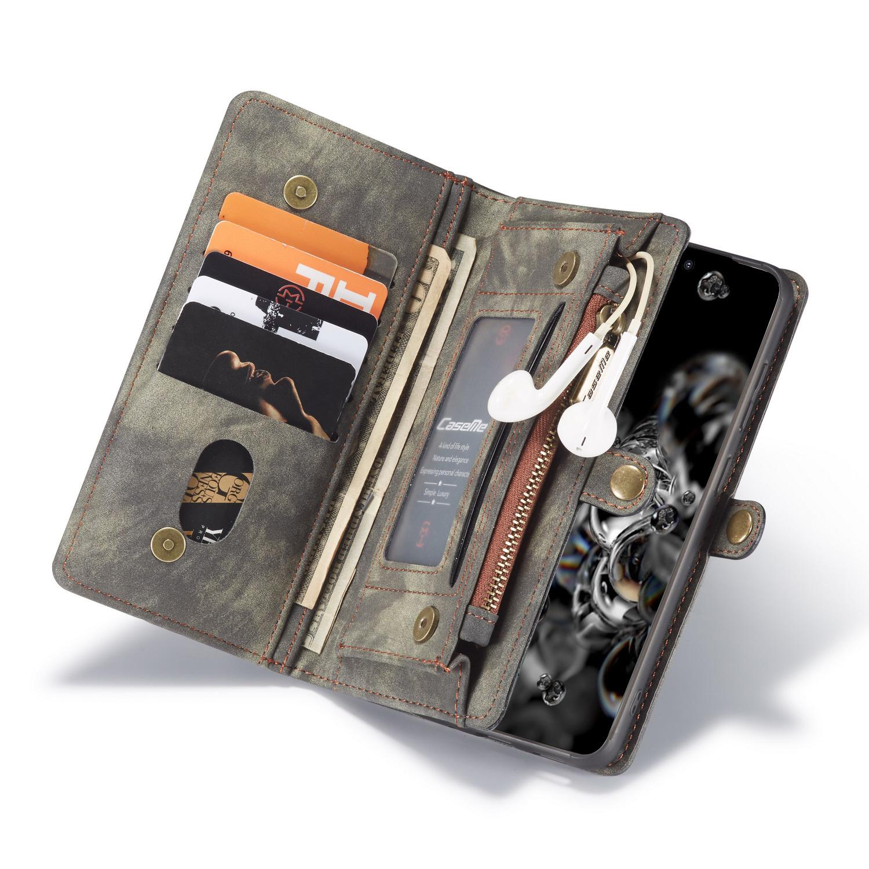 Caseme Vintage 2 in 1 portemonnee hoes Grijs voor de Samsung Galaxy S20