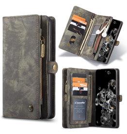 Caseme Caseme - vintage 2 in 1 portemonnee hoes - Samsung Galaxy S20 - Grijs