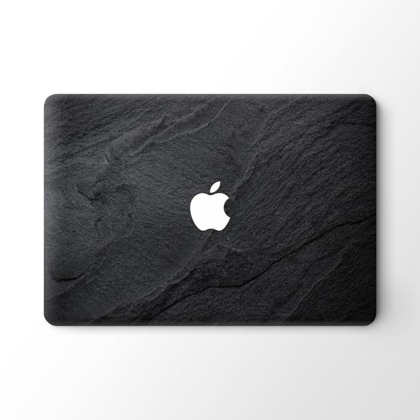 Lunso Black Stone vinyl sticker voor de MacBook Pro 16 inch
