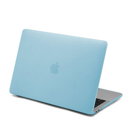Lunso Lunso - Ultra dunne cover hoes - MacBook Air 13 inch (2018-2019) - Lichtblauw