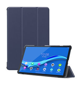 Lunso 3-Vouw sleepcover hoes - Lenovo Tab M10 FHD Plus - Blauw