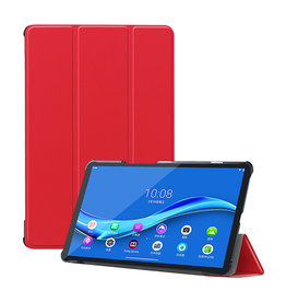 Lunso 3-Vouw sleepcover hoes - Lenovo Tab M10 FHD Plus - Rood