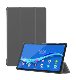 Lunso 3-Vouw sleepcover hoes - Lenovo Tab M10 FHD Plus - Grijs