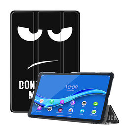 Lunso 3-Vouw sleepcover hoes - Lenovo Tab M10 FHD Plus - Don't Touch