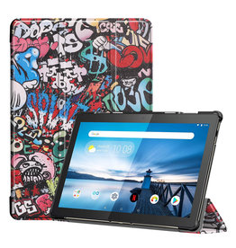 Lunso 3-Vouw sleepcover hoes - Lenovo Tab M10 FHD Plus - Graffiti