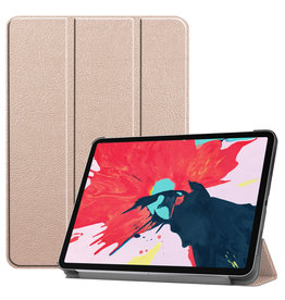 Lunso 3-Vouw sleepcover hoes - iPad Pro 11 inch (2020) - Goud