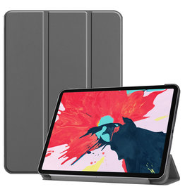 Lunso 3-Vouw sleepcover hoes - iPad Pro 11 inch (2020) - Grijs