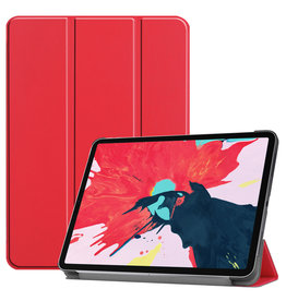 Lunso 3-Vouw sleepcover hoes - iPad Pro 11 inch (2020) - Rood