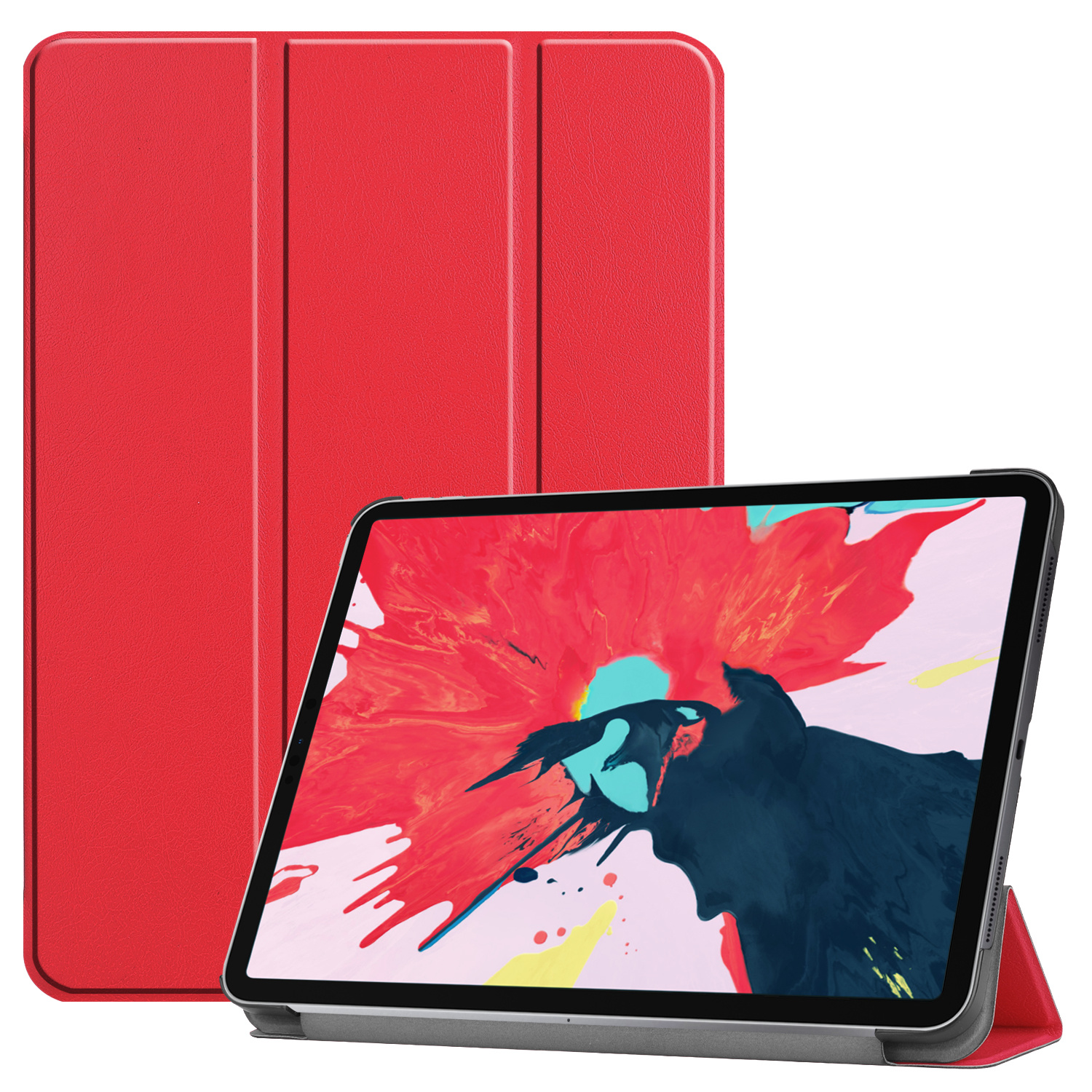 3-Vouw sleepcover hoes - iPad Pro 11 inch (2020) - Rood
