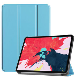 Lunso 3-Vouw sleepcover hoes - iPad Pro 11 inch (2020) - Lichtblauw