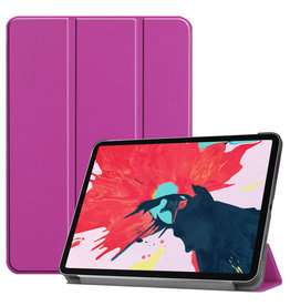 Lunso 3-Vouw sleepcover hoes - iPad Pro 11 inch (2020) - Paars