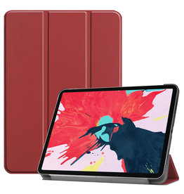 Lunso 3-Vouw sleepcover hoes - iPad Pro 11 inch (2020) - Bordeaux Rood