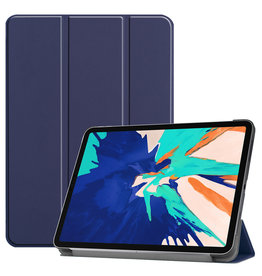 Lunso 3-Vouw sleepcover hoes - iPad Pro 12.9 inch (2020) - Blauw