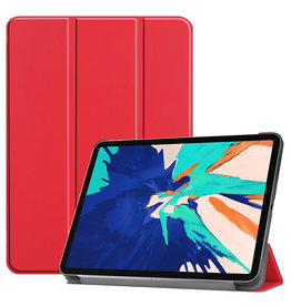 Lunso 3-Vouw sleepcover hoes - iPad Pro 12.9 inch (2020) - Rood