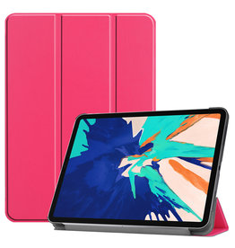 Lunso 3-Vouw sleepcover hoes - iPad Pro 12.9 inch (2020) - Roze