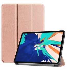 Lunso 3-Vouw sleepcover hoes - iPad Pro 12.9 inch (2020) - Rose Goud