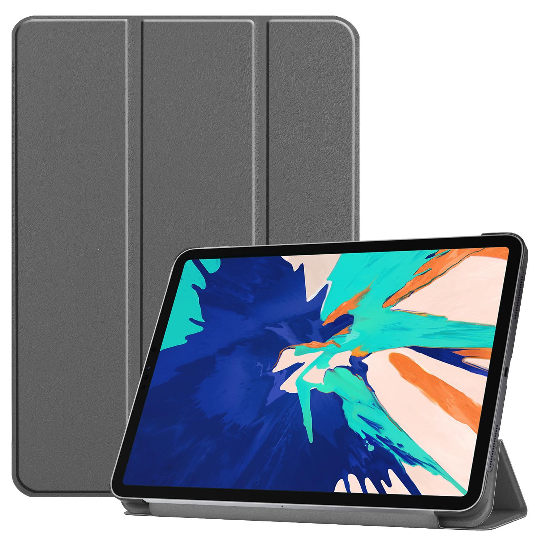 3-Vouw sleepcover hoes - iPad Pro 12.9 inch (2020) - Grijs