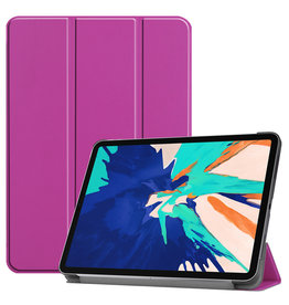 Lunso 3-Vouw sleepcover hoes - iPad Pro 12.9 inch (2020) - Paars