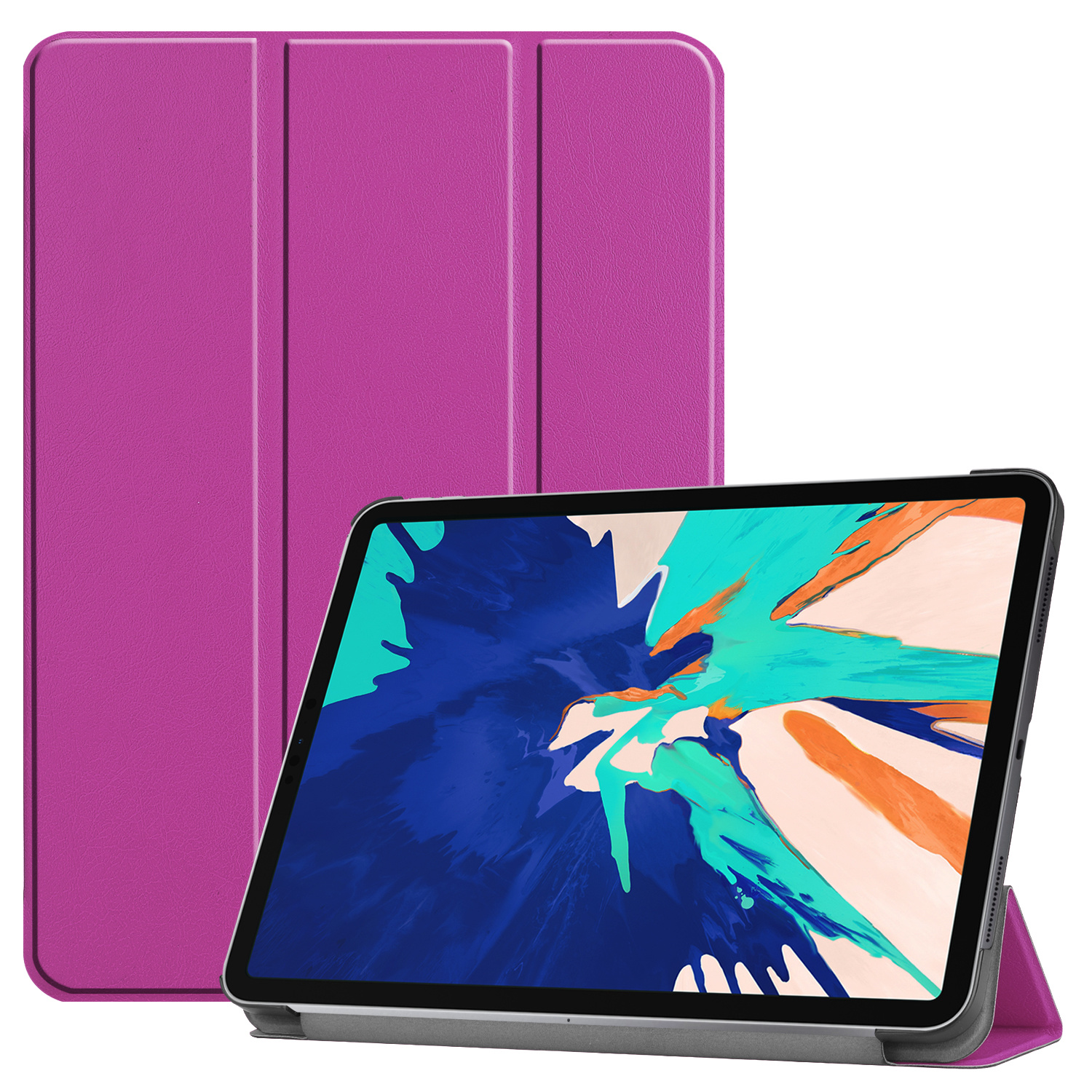 3-Vouw sleepcover hoes - iPad Pro 12.9 inch (2020) - Paars